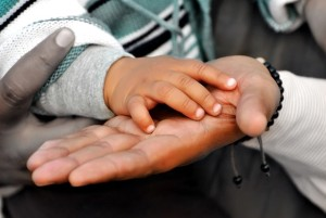 Child & Parent hands