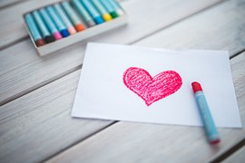 Crayon Heart on paper small kindnesses blog image