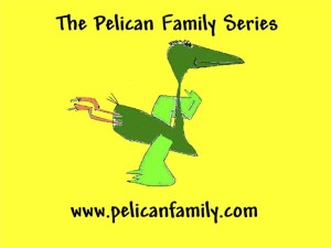 Pelican Family Series Children's Picture Books Logo with Pelly