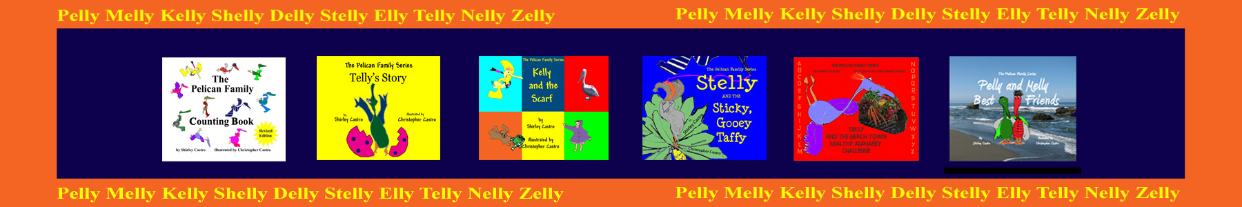 Pelican Family Series Childrens Picture Books - All Six Books
