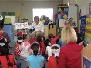 Reading to kids makes me happy.